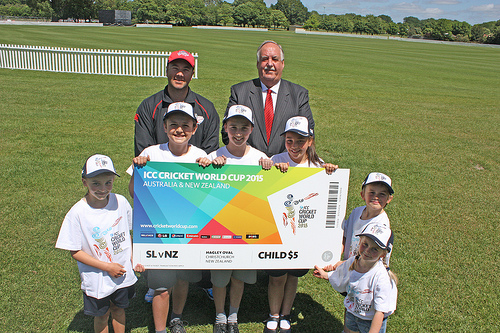 Family-friendly tickets announced for Cricket World Cup 2015