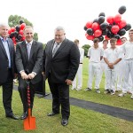 Prime Minister turns sod at Hagley Oval