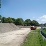 Embankment build starts at Hagley Oval January 2014