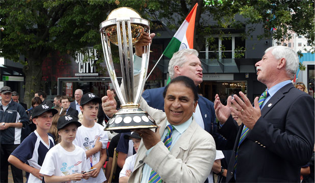Trophy star of Cricket World Cup roadshow