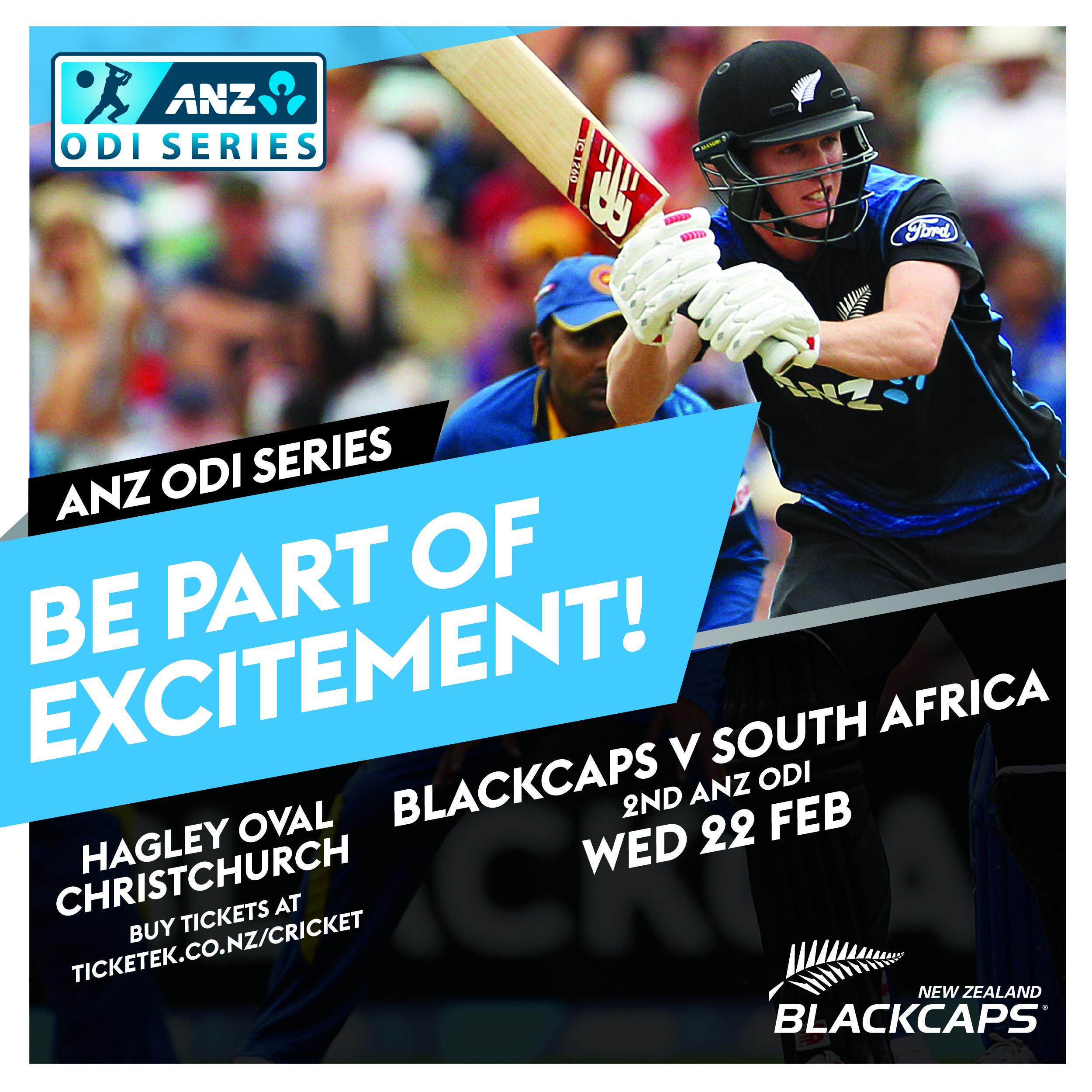 Blackcaps v South Africa ANZ International ODI 22 Feb