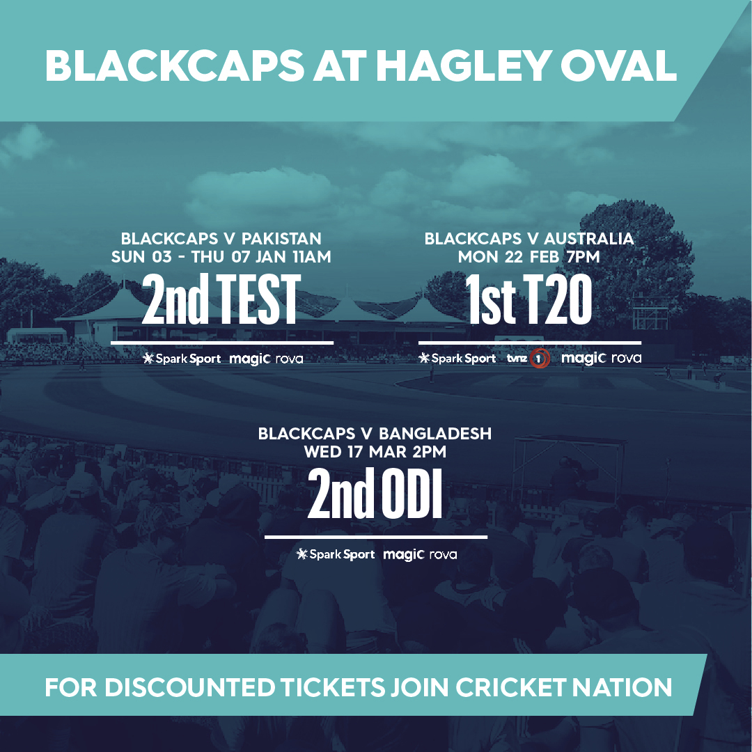 Hagley Oval set to host the Blackcaps this summer!