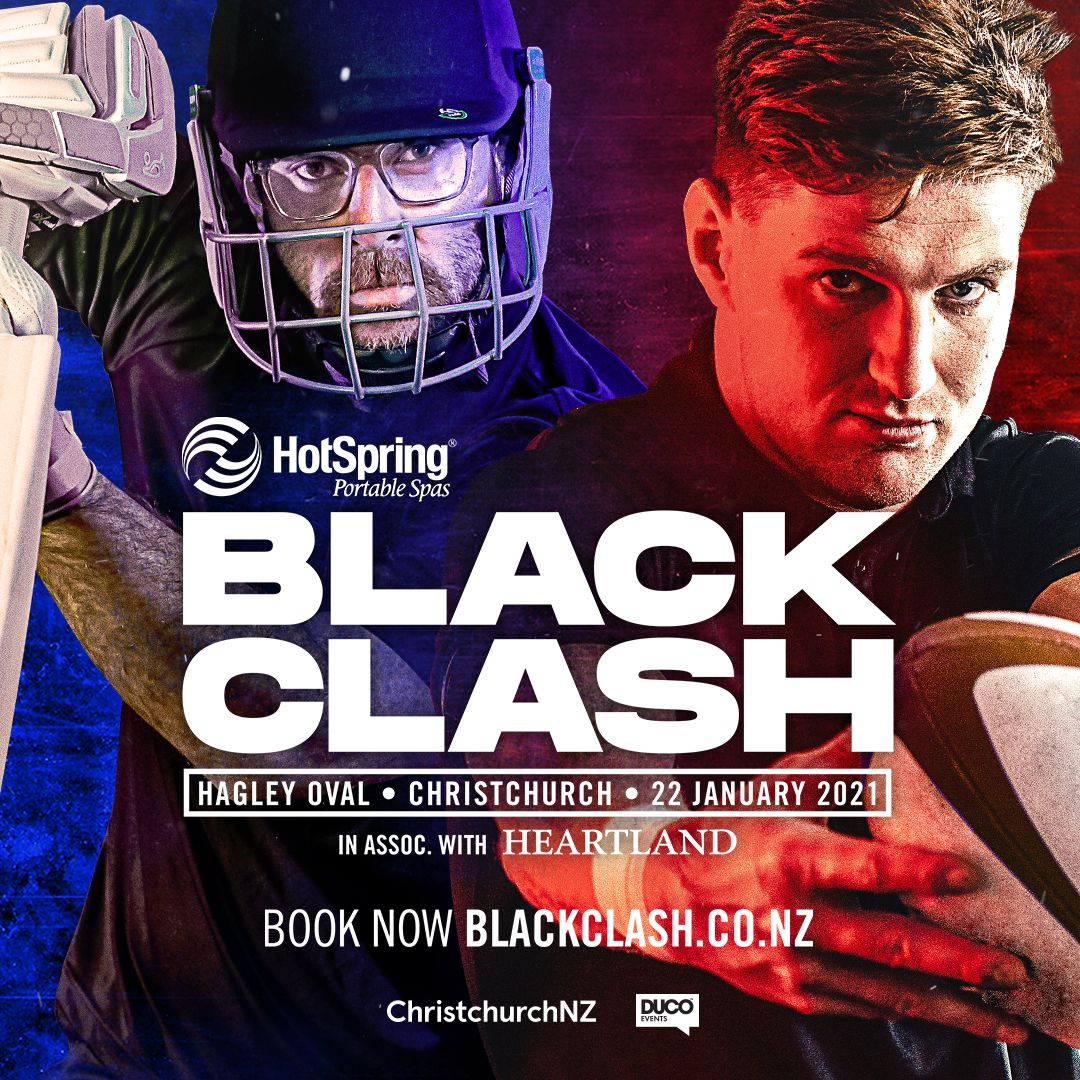The Black Clash is BACK at Hagley Oval