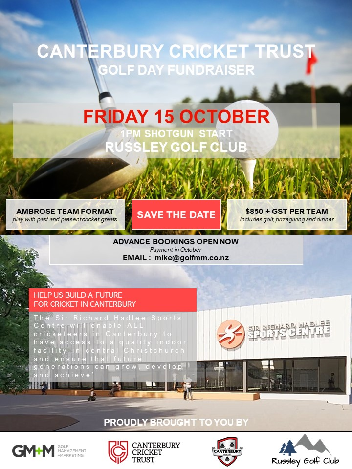Hagley Oval and CCT GOLF DAY FUNDRAISER