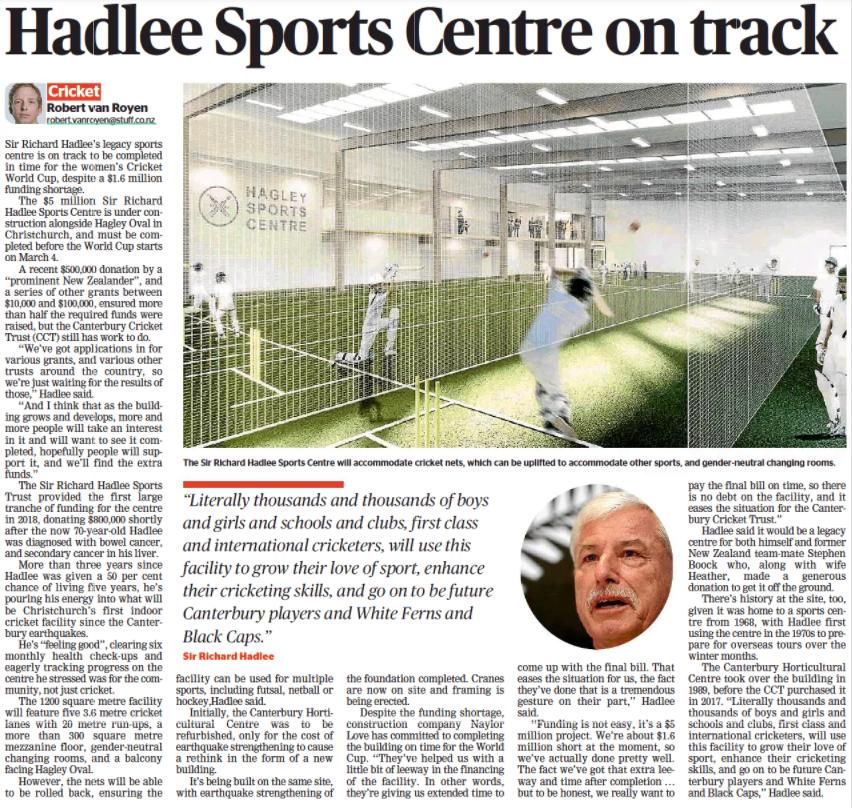 Sir Richard Hadlee Sports Centre